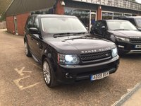2009 LAND ROVER RANGE ROVER SPORT 3.0 TDV6 HSE 5d AUTO 245 BHP IN BLACK WITH FULL SERVICE HISTORY £16990.00