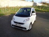 USED 2013 63 SMART FORTWO 1.0 EDITION 21 MHD 2d 71 BHP LOW ROAD TAX!!