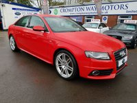 USED 2010 10 AUDI A4 2.0 TDI S LINE 4d 141 BHP 0% FINANCE AVAILABLE PLEASE CALL 01204 317705