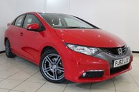 USED 2012 62 HONDA CIVIC 1.8 I-VTEC ES 5DR 140 BHP CLIMATE CONTROL + REVERSE CAMERA + BLUETOOTH + CRUISE CONTROL + MULTI FUNCTION WHEEL + RADIO/CD + 16 INCH ALLOY WHEELS