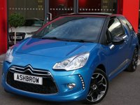 USED 2012 62 CITROEN DS3 1.6 DSTYLE PLUS 3d 120 BHP FRONT FOG LIGHTS, LED DAYTIME RUNNING LIGHTS, 17 INCH ALLOYS, TINTED WINDOWS, REAR PARKING SENSORS, BLACK ROOF & MIRRORS, BLACK CLOTH INTERIOR, SPORT STYLE SEATS, ELECTRIC FOLDING DOOR MIRRORS, ELECTRIC WINDOWS, REMOTE CENTRAL LOCKING, LEATHER FLAT BOTTOM STEERING WHEEL WITH STEERING COLUMN REMOTE CONTROLS, AUTO LIGHTS & WIPERS WITH AUTO DIMMING REAR VIEW MIRROR, CRUISE CONTROL WITH SPEED LIMITER, DIGITAL CLIMATE AIR CONDITIONING, CD HIFI WITH AUX INPUT, LEATHER FRONT ARM REST, GOOD SERVICE HIST