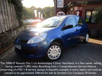 USED 2008 57 RENAULT CLIO 1.1 AUTHENTIQUE 16V 5d 75 BHP