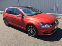 USED 2015 65 VOLKSWAGEN GOLF 2.0 GT TDI DSG AUTO 148 BHP, SAT NAV, PAN ROOF, LEATHER HUGE SPEC, 2 OWNERS, FSH
