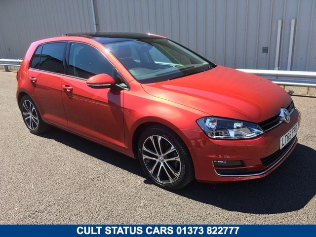 2015 65 VOLKSWAGEN GOLF 2.0 GT TDI DSG AUTO 148 BHP, SAT NAV, PAN ROOF, LEATHER