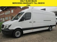 USED 2015 65 MERCEDES-BENZ SPRINTER 2.1 313CDI LWB HIGH ROOF 129 BHP. ONLY 58K. MERC WARRANTY 09/2018 3 SERVICES. JUST SERVICED. FINANCE. PX. MERC WARRANTY