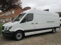 USED 2015 15 MERCEDES-BENZ SPRINTER 2.1 313CDI LWB HIGH ROOF 129 BHP. MERCEDES WARRANTY 07/2018 4 SERVICES. LOW RATE FINANCE. 1 OWNER. PX WELCOME