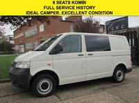 USED 2007 57 VOLKSWAGEN TRANSPORTER 1.9 TDI T28 SWB KOMBI 6 SEATS. FACTORY CREW CAB. 1 OWNER. NICE EXAMPLE. FINANCE. WARRANTY. PX WELCOME