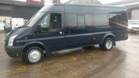 2012 FORD TRANSIT 2.2 430 SHR BUS 17 STR 1d 134 BHP 1 OWNER F/S/H LOW MILES  £7495.00