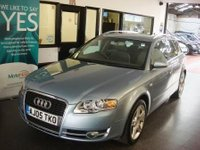 "USED 2005 05 AUDI A4 2.0 T FSI SE 5d AUTO 200 BHP Finished in liquid blue metallic, Supplied with a Service, September 2018 MOT and 6 months warranty which is extendable, fitted with park assist front and rear, auto lights, climate control, 17"" alloys with alloy spare, cruise control, radio cd and more. Only 2 owners from new, not been smoked in no rips or tears to the interior...has been used as a family vehicle. Finance is available."