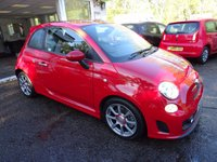 USED 2014 63 ABARTH 500 1.4 ABARTH 3d 135 BHP Low Mileage, Comprehensive Abarth Service History, NEW MOT (minimum 10 months), One Previous Owner, Looks and Sounds Amazing!