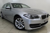 USED 2014 63 BMW 5 SERIES 2.0 520D SE TOURING 5DR AUTOMATIC 181 BHP BMW SERVICE HISTORY + HEATED LEATHER SEATS + SAT NAVIGATION + PARKING SENSOR + BLUETOOTH + CRUISE CONTROL + MULTI FUNCTION WHEEL + 17 INCH ALLOY WHEELS