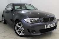 USED 2013 63 BMW 1 SERIES 2.0 120I EXCLUSIVE EDITION 2DR AUTOMATIC 168 BHP FULL BMW SERVICE HISTORY + LEATHER SEATS + 0% FINANCE AVAILABLE T&C'S APPLY + AIR CONDITIONING + MULTI FUNCTION WHEEL + RADIO/CD + ELECTRIC WINDOWS + ALLOY WHEELS