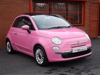 USED 2010 10 FIAT 500 1.2 LOUNGE PURO2 3d SPECIAL EDITION PURO2 IN PINK