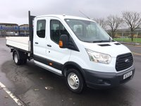 2015 FORD TRANSIT 2.2 350 L3 DOUBLECAB PICKUP 125BHP £13495.00