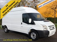 USED 2013 13 FORD TRANSIT 2.2 350 Lwb High Roof [ Mobile Workshop A/con Navigation ] Van Rwd Printout Free UK Delivery