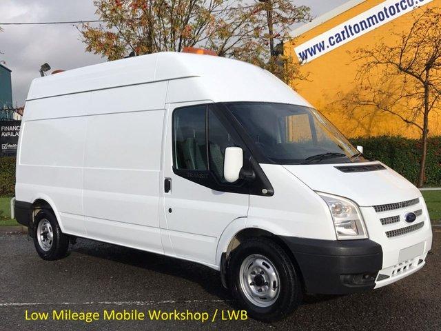 2013 13 FORD TRANSIT 2.2 350 Lwb High Roof [ Mobile Workshop A/con Navigation ] Van Rwd Printout Free UK Delivery