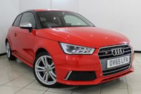USED 2015 65 AUDI S1 2.0  QUATTRO 3DR 228 BHP FULL AUDI SERVICE HISTORY + HALF LEATHER SPORT SEATS + SAT NAVIGATION + CLIMATE CONTROL + BLUETOOTH + CRUISE CONTROL + MULTI FUNCTION WHEEL + RADIO/CD + 17 INCH ALLOY WHEELS