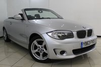 USED 2013 63 BMW 1 SERIES 2.0 118I EXCLUSIVE EDITION 2DR 141 BHP BMW SERVICE HISTORY + HEATED LEATHER SEATS + PARKING SENSOR + MULTI FUNCTION WHEEL + AIR CONDITIONING + RADIO/CD + 17 INCH ALLOY WHEELS