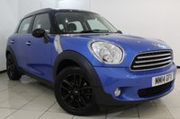 USED 2014 14 MINI COUNTRYMAN 1.6 COOPER PEPPER PACK 5DR 122 BHP FULL MINI SERVICE HISTORY + CLIMATE CONTROL + PARKING SENSOR + BLUETOOTH + DAB RADIO + ALLOY WHEELS