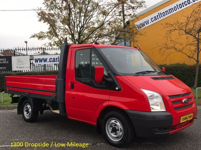 2013 62 FORD TRANSIT 2.2 T300 Swb Dropside SRW Ex Lease History Free UK Delivery