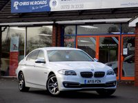 USED 2015 15 BMW 5 SERIES 2.0 520D LUXURY 4dr AUTO 188 BHP * Pro Nav & Pearl White * *ONLY 9.9% APR with FREE Servicing*