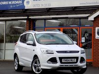 USED 2014 64 FORD KUGA 2.0 TDCi TITANIUM X SPORT 5dr (163) * Pan Roof Leather & Nav * *ONLY 9.9% APR with FREE Servicing*