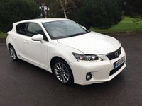 USED 2013 13 LEXUS CT 1.8 200H ADVANCE 5d AUTO 136 BHP LOW MILES CT200H IN WHITE WITH FULL BLACK LEATHER SAT NAV REVERSING CAMERAS FSH