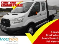 2015 FORD TRANSIT TIPPER DOUBLE CAB 350 L3 LWB RWD 1-Stop 125ps £14500.00