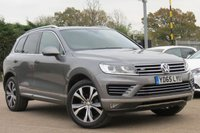 USED 2015 65 VOLKSWAGEN TOUAREG 3.0 V6 R-LINE TDI BLUEMOTION TECHNOLOGY 5d AUTO 259 BHP SAT NAV, HEATED SEATS, FULL LEATHER, AUTO TAILGATE , MANUFACTURERS WARRANTY TILL 2018