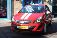 USED 2014 14 VAUXHALL CORSA 1.2 STING AC 3dr 83 BHP LOW MILES | WHITE VIPER STRIPES | WHITE DOOR MIRRORS