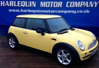 USED 2002 02 MINI HATCH COOPER 1.6 COOPER 3d 114 BHP LEMON YELLOW MINI COOPER 1.6 ALLOYS POWER STEERING REAL EYE CATCHER MUST BE SEEN P/EX TO CLEAR