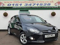 USED 2012 12 FORD FOCUS 1.6 ZETEC 5d 104 BHP 47,000 MILES, FULL HISTORY, BLUETOOTH, DAB RADIO