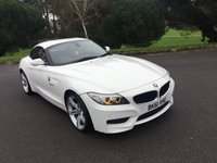 USED 2011 61 BMW Z4 2.5 Z4 SDRIVE23I M SPORT HIGHLINE EDITION 2d 201 BHP HIGHLINE M SPORT IN WHITE WITH CORAL RED KANSAS LEATHER 45000 FSH