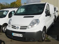 2013 NISSAN PRIMASTAR 2.0 SE SWB DCI SHR 1d 115 BHP VAN ELECTRIC WINDOWS  £6995.00