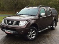 USED 2009 09 NISSAN NAVARA 2.5 DCI PLATINUM 4X4 SHR DCB 1d 169 BHP HARDTOP CANOPY LEATHER FSH NO VAT NO FINANCE REPAYMENTS FOR 2 MONTHS STC. NO VAT. 4WD. SNUGTOP CANOPY. STUNNING BRONZE MET WITH FULL BLACK LEATHER TRIM. ELECTRIC HEATED SEATS, CRUISE CONTROL. AIR CON. SUNROOF. SIDE STEPS. 17 INCH ALLOYS. COLOUR CODED TRIMS. PRIVACY GLASS. CARGO LINING. ROOF RAILS. PAS. R/CD PLAYER. MFSW. MOT 09/18. ONE PREV OWNER. FULL SERVICE HISTORY. FCA FINANCE APPROVED DEALER. TEL 01937 849492