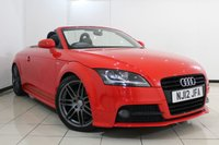 USED 2012 12 AUDI TT 2.0 TFSI S LINE BLACK EDITION 2DR 208 BHP FULL AUDI SERVICE HISTORY + HALF LEATHER SEATS + AIR CONDITIONING + PARKING SENSOR + BLUETOOTH + MULTI FUNCTION WHEEL + 19 INCH ALLOY WHEELS