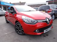 USED 2014 64 RENAULT CLIO 0.9 DYNAMIQUE MEDIANAV ENERGY TCE S/S 5d 90 BHP Absolutely stunning Flame Red Met, Renault Clio, Low Miles, very low RFL, and Full Renault Service history