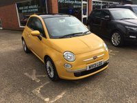 USED 2013 13 FIAT 500 1.2 LOUNGE 3d 69 BHP WITH ONLY 34000 MILES IN BRIGHT YELLOW APPROVED CARS ARE PLEASED TO OFFER THIS  FIAT 500 1.2 LOUNGE 3d 69 BHP WITH ONLY 34000 MILES IN BRIGHT YELLOW WITH A GREAT SPEC INCLUDING AIR CON,ALLOYS,BLUETOOTH AND POWER STEERING ALONG WITH A GOOD MAIN DEALER FULL SERVICE HISTORY IN YELLOW MAKES THIS CAR A GREAT LITTLE RUNAROUND OR FIRST CAR.