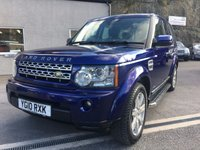 2010 LAND ROVER DISCOVERY 3.0 4 TDV6 XS 5d AUTO 245 BHP £17995.00