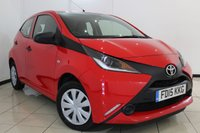 USED 2015 15 TOYOTA AYGO 1.0 VVT-I X 5DR 69 BHP FULL SERVICE HISTORY + £0.00 12M TAX + UP TO 78 MG + AIR CONDITIONING + RADIO/CD + ELECTRIC WINDOWS