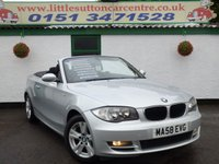 USED 2008 58 BMW 1 SERIES 2.0 120D SE 2d 175 BHP DIESEL CONVERTIBLE