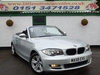 USED 2008 58 BMW 1 SERIES 2.0 120D SE 2d 175 BHP DIESEL CONVERTIBLE