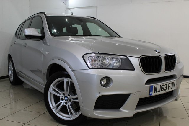 View our 2013 63 BMW X3 2.0 XDRIVE20D M SPORT 5DR 181 BHP