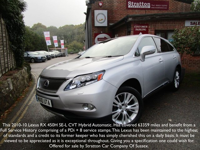 2010 10 LEXUS RX  450H 3.5 SE-L 5d AUTO 249 BHP