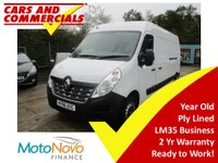 2016 RENAULT MASTER LWB LM35 BUSINESS 125ps £12500.00