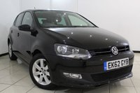 USED 2012 62 VOLKSWAGEN POLO 1.4 MATCH DSG 5DR AUTOMATIC 83 BHP FULL VW SERVICE HISTORY + AIR CONDITIONING + RADIO/CD + AUXILIARY PORT + ELECTRIC WINDOWS + 15 INCH ALLOY WHEELS