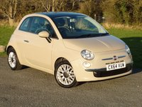 USED 2014 64 FIAT 500 1.2 LOUNGE 3d 69 BHP WITH 1 YEAR FREE AA MEMBERSHIP**  A LOVELY EXAMPLE WITH FULL SERVICE HISTORY