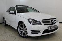 USED 2015 15 MERCEDES-BENZ C CLASS 2.1 C250 CDI AMG SPORT EDITION PREMIUM PLUS 2DR AUTOMATIC 202 BHP FULL MERCEDES SERVICE HISTORY + HEATED HALF LEATHER SEATS + SAT NAVIGATION + PANORAMIC ROOF + REVERSE CAMERA + BLUETOOTH + CRUISE CONTROL + MULTI FUNCTION WHEEL + 18 INCH ALLOY WHEEL