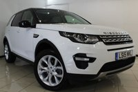 USED 2015 15 LAND ROVER DISCOVERY SPORT 2.2 SD4 HSE 5DR AUTOMATIC 190 BHP HEATED LEATHER SEATS + SAT NAVIGATION + 7 SEATS + ELECTRIC PANORAMIC ROOF + REVERSE CAMERA + BLUETOOTH + CRUISE CONTROL + MULTI FUNCTION WHEEL + 19 INCH ALLOY WHEELS