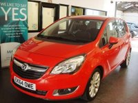 USED 2014 64 VAUXHALL MERIVA 1.4 LIFE 5d 99 BHP YES...ONLY 4100 miles!! This new shape Meriva is finished in flame red with Black cloth seats. It is fitted with power steering, remote locking, electric windows and mirrors, air conditioning, alloy wheels, CD Stereo with UBS/Aux port and more. It has had two owners from new, Underwoods Vauxhall and one lady and comes with a full service history which are all Vauxhall, last serviced on 28/09/17 @4086 miles. Finance and extended warranties are available.